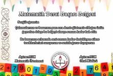 Matematik Dersi Başarı Belgesi